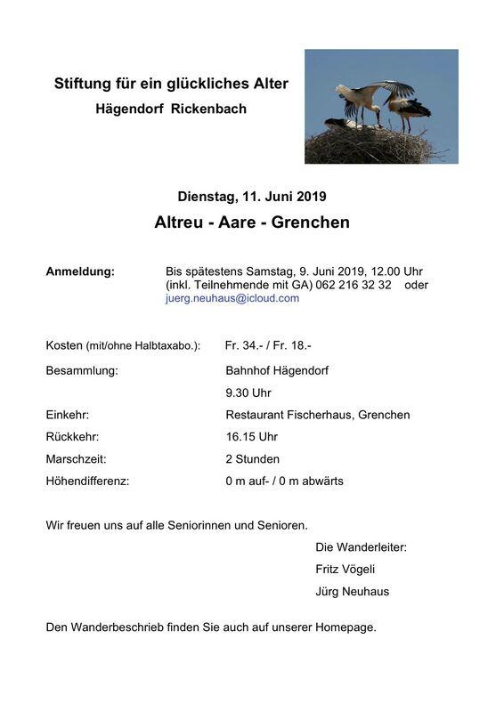 06.2019 Altreu-Grenchen - STIFTUNG FÜR EIN GLÜCKLICHES